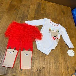 Koala Kids Reindeer Christmas 2 pc Outfit 12-18M